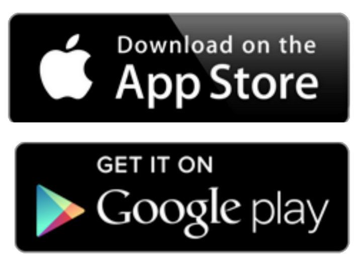 app store and google play icons